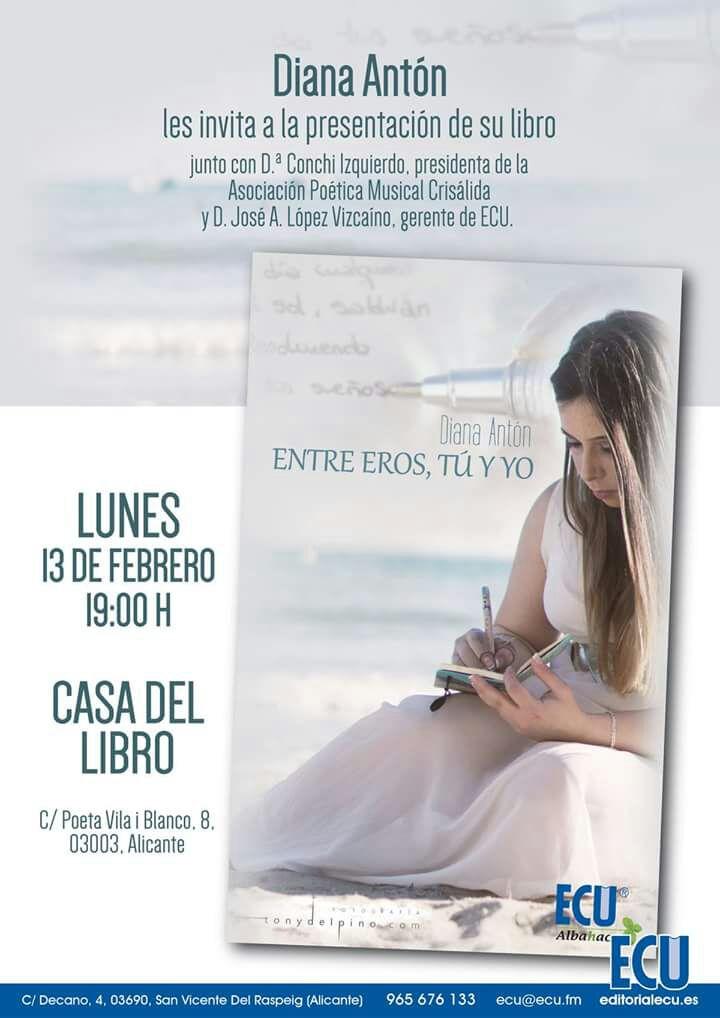 Diana Antón presenta su libro de poemas 'Entre Eros, tú y yo' en la Casa del Libro de Alicante en LETRAS