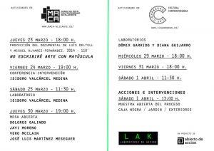 LAK Laboratorio en acción. Espacio de experimentación de la práctica artística contemporánea. en ARTE ESCENA