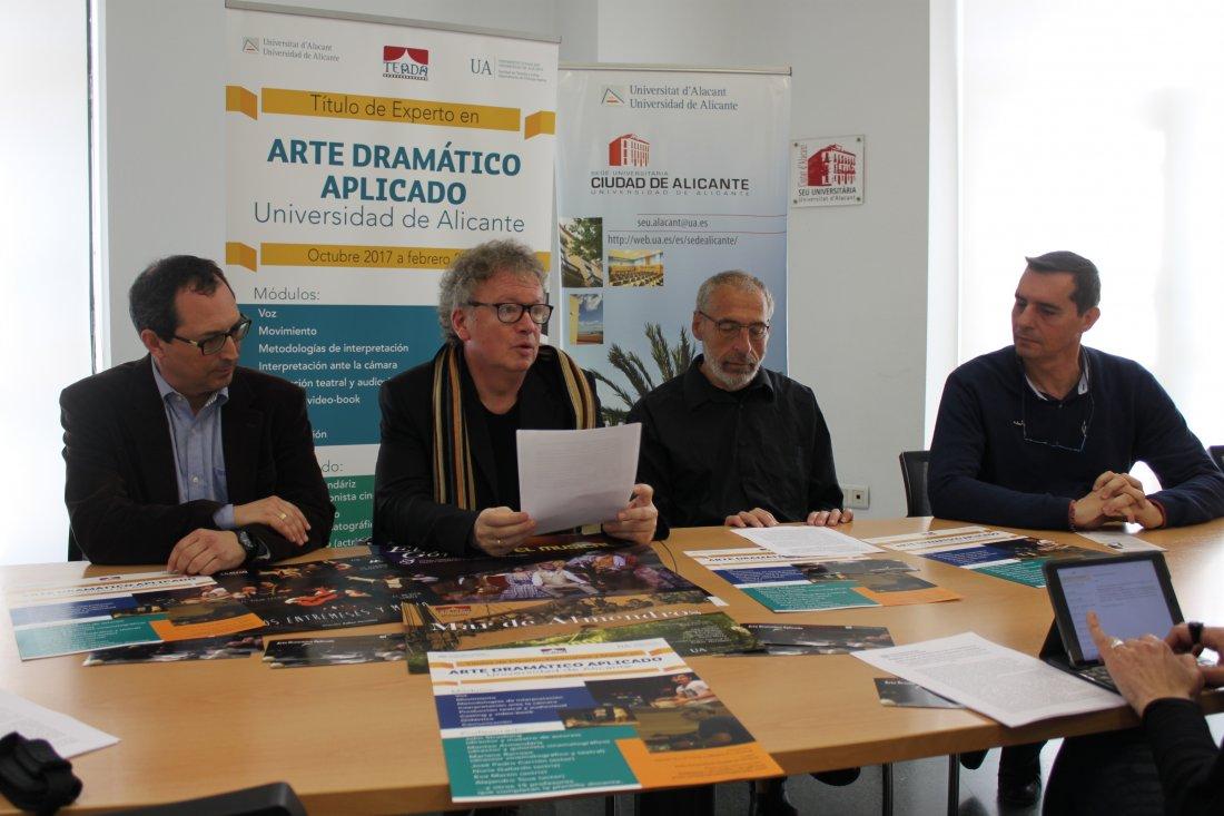 El Máster en Arte Dramático de la UA se traslada al centro de Alicante en CINE ESCENA