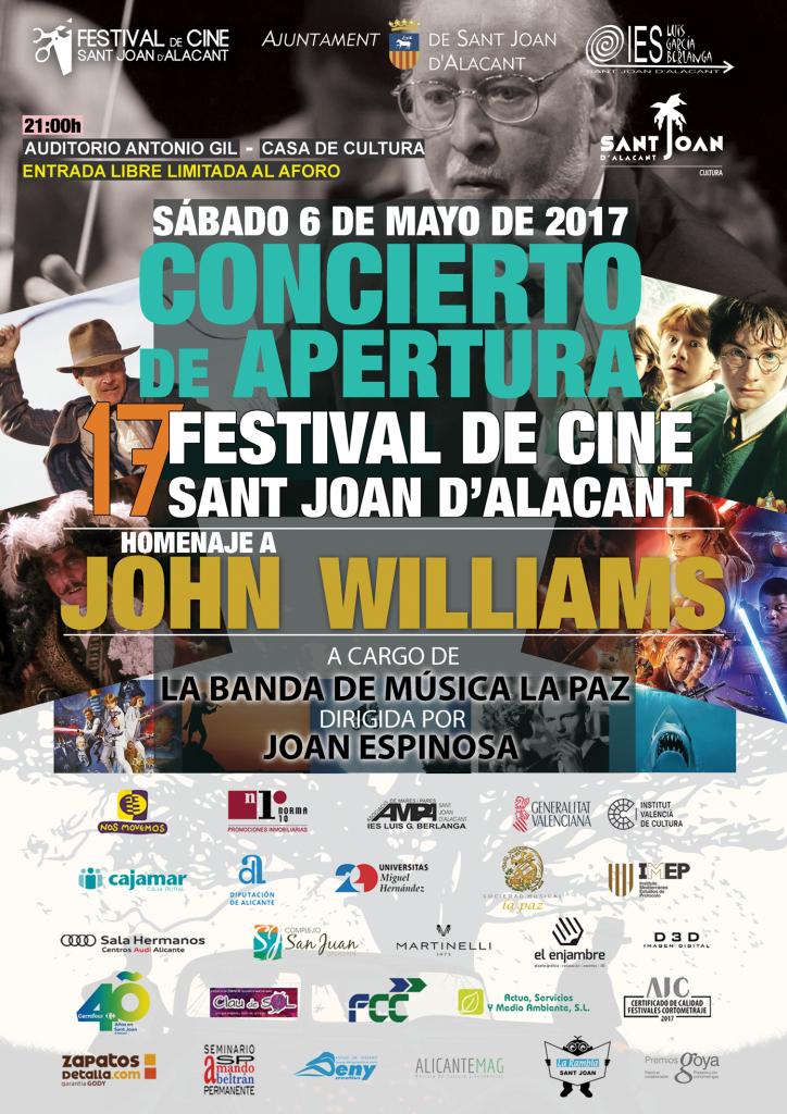 Un fabuloso concierto de bandas sonoras inaugura el 17º Festival de Cine de Sant Joan d'Alacant en CINE