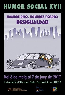 La desigualdad protagoniza la XVII Muestra de Humor Social de la UA en ILUSTRACIÓN