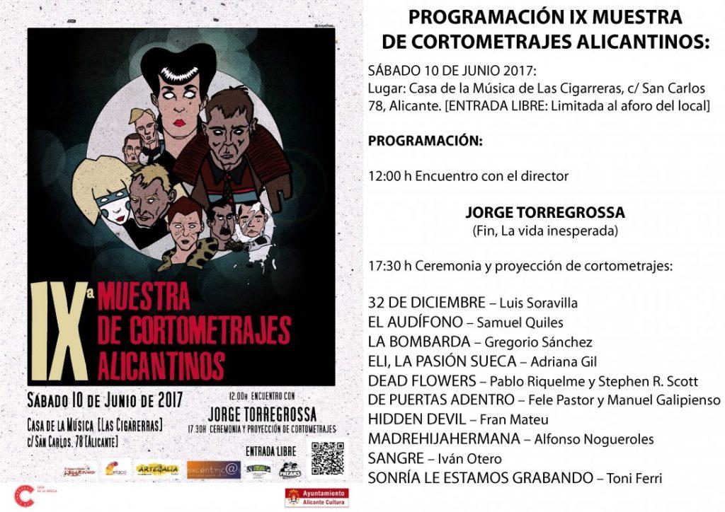 La IX Muestra de Cortometrajes Alicantinos selecciona sus diez cortos en CINE