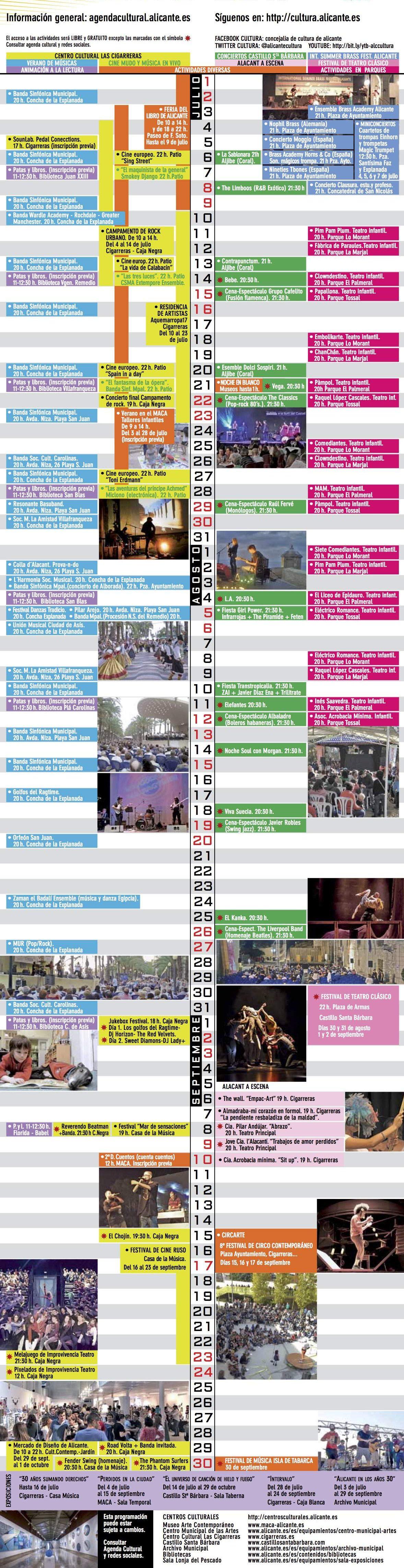 Estiu Cultural: Programación para los meses de julio, agosto y septiembre en ARTE CINE ESCENA ESTILO DE VIDA FOTOGRAFIA LETRAS MÚSICA