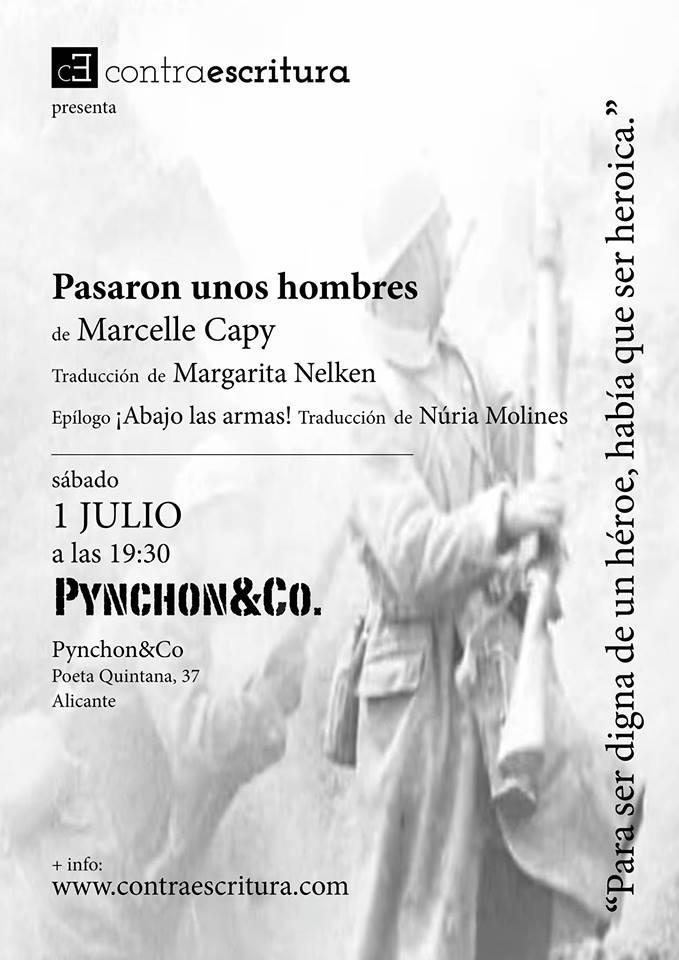 Pynchon&Co presenta la editorial ContraEscritura y el libro 'Pasaron unos hombres' en LETRAS