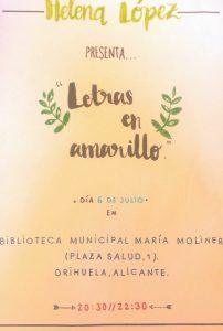 """Helena López nos descubre su mundo """"en amarillo"""" en LETRAS"""