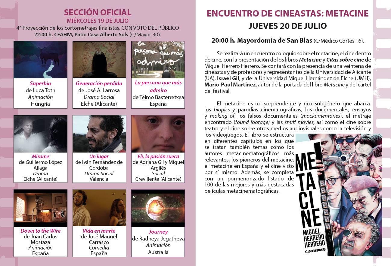 Miguel Herrero presenta el libro 'Metacine' en el Festival de Cine de Sax en CINE