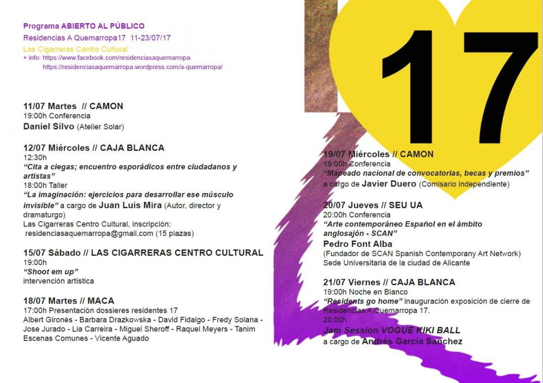 Residencias a Quemarropa 17, por la profesionalización del arte en ARTE