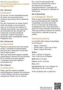 Vilamuseu oferta un curso de arqueología para niños durante el mes de agosto en ARQUEOLOGÍA