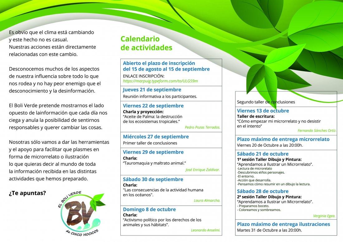 """El proyecto """"El Boli Verde"""" abre su plazo de inscripción en MEDIO AMBIENTE"""