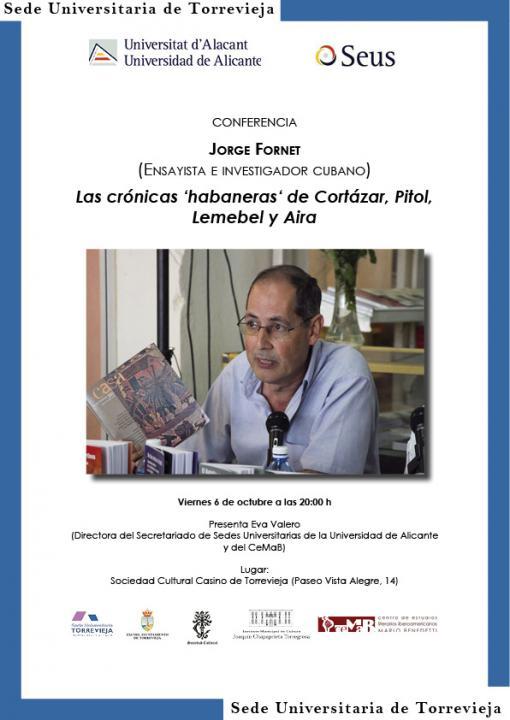 Encuentros literarios con el escritor cubano Jorge Fornet en CONFERENCIAS LETRAS