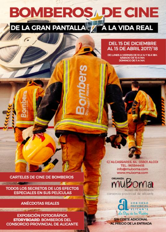 """El MuBoma ofrece una exposición """"de cine"""" sobre los bomberos en CINE"""