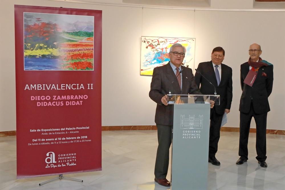 La Diputación presenta la doble vertiente artística de Diego Zambrano en PINTURA