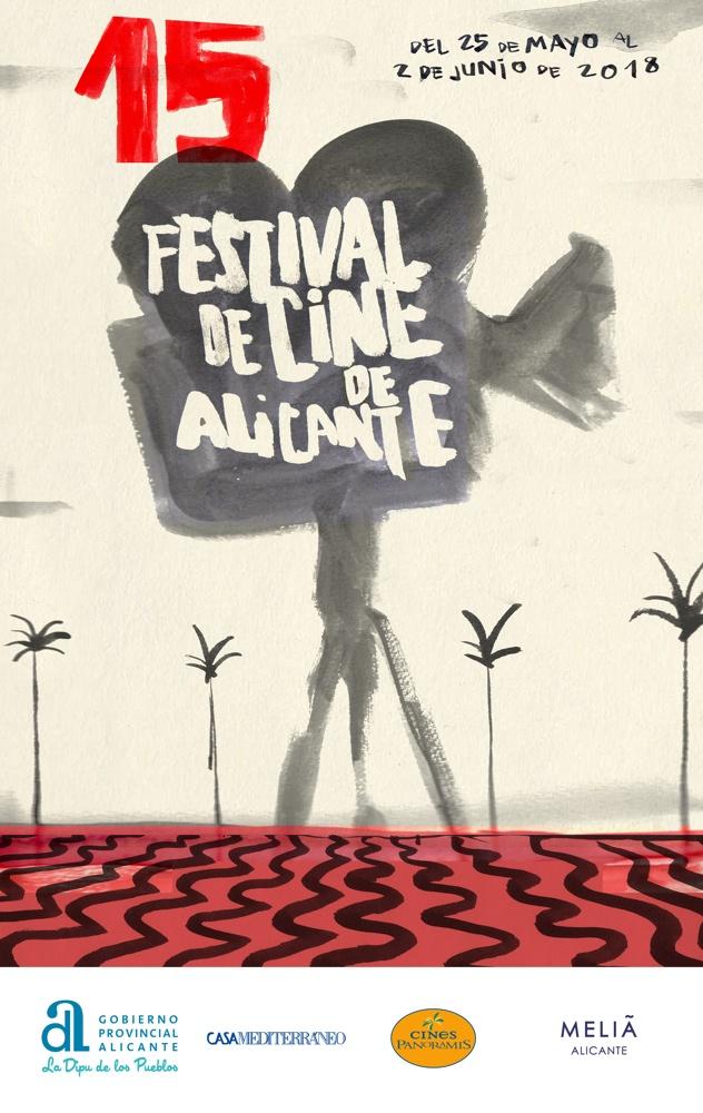 La Explanada y David Lynch inspiran el cartel del 15º Festival de Cine de Alicante en CINE