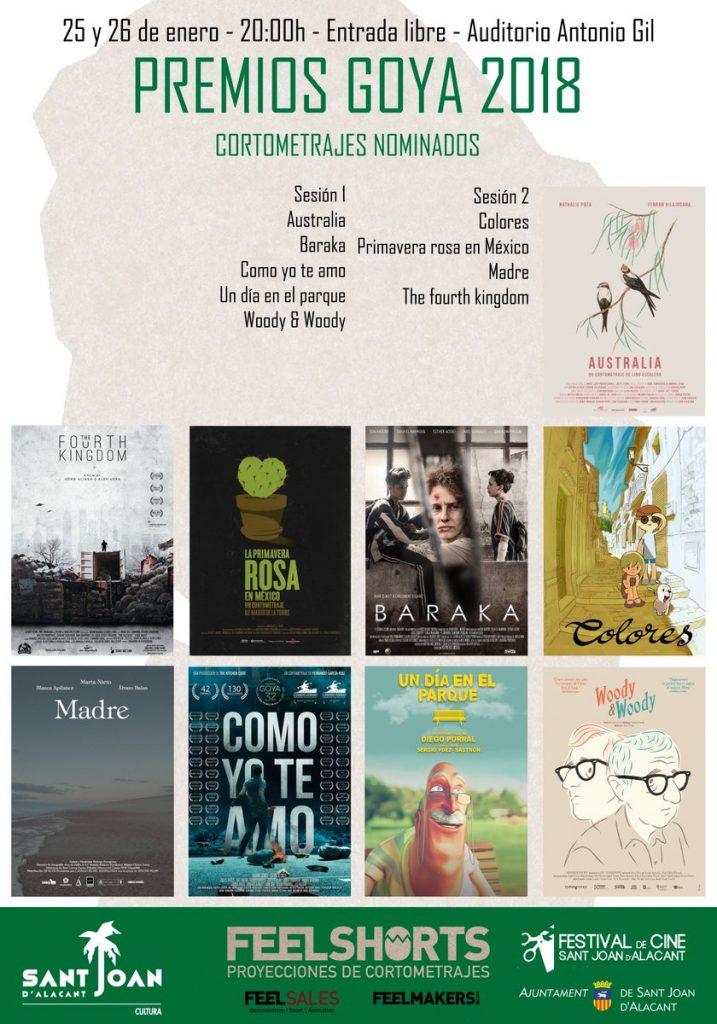 Los cortos nominados a los Goya desembarcan en la Casa de Cultura de Sant Joan en CINE