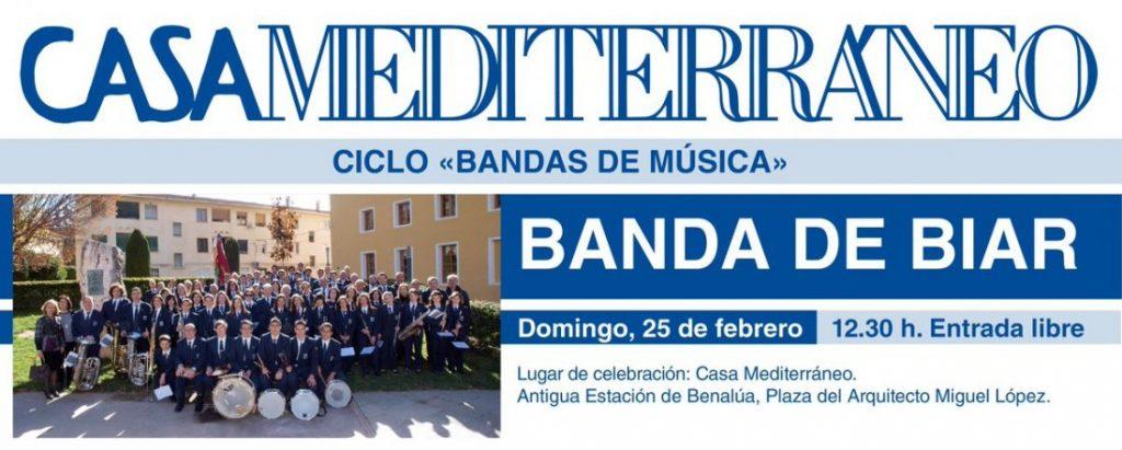 La Banda de Biar ofrece un concierto en Casa Mediterráneo en MÚSICA