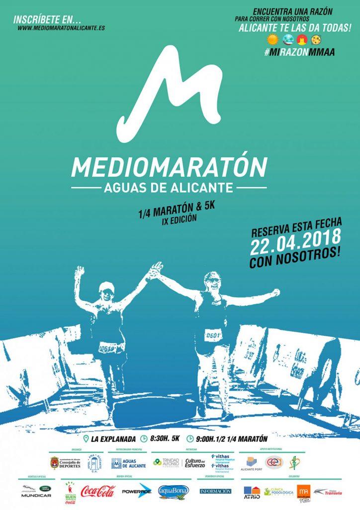 El Medio Maratón Aguas de Alicante llenará las calles de corredores el 22 de abril en DEPORTE