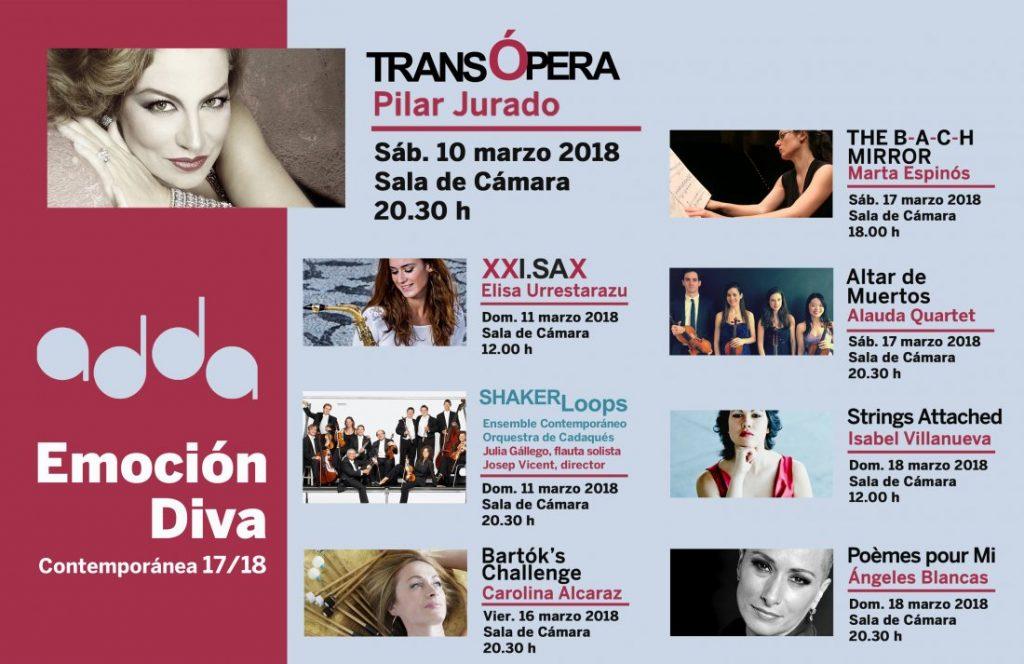 'Emoción Diva' trae al ADDA a destacadas mujeres de la música contemporánea en MÚSICA