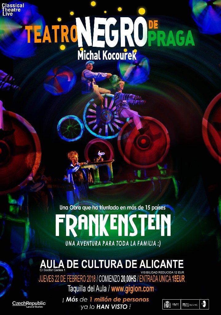 El Teatro Negro de Praga trae a Frankenstein al Aula de Cultura de Alicante en ESCENA