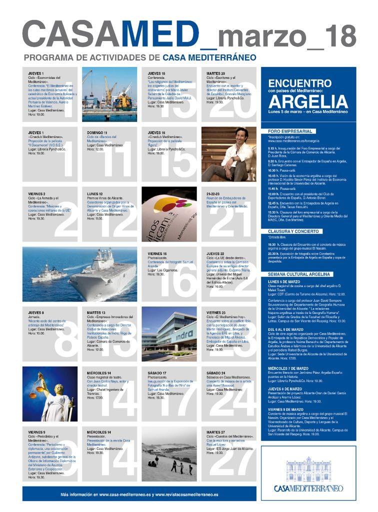 Argeliaprotagoniza el amplio programa de marzo de Casa Mediterráneo en CONFERENCIAS FOTOGRAFIA GASTRONOMÍA LETRAS MÚSICA