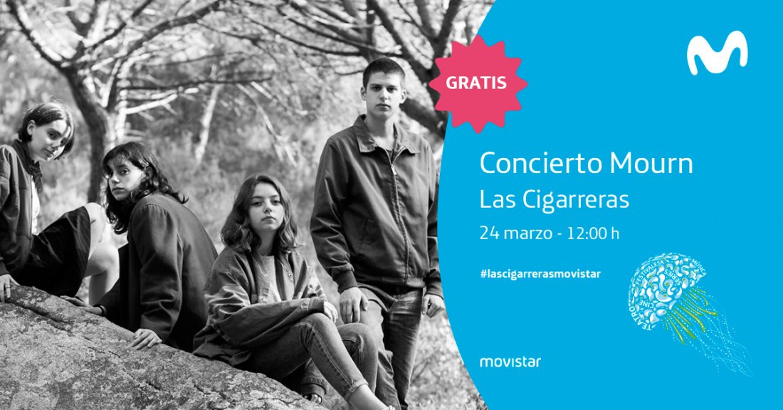 Concierto gratuito de Mourn y Leather Wave en Las Cigarreras cortesía de Movistar+ en MÚSICA