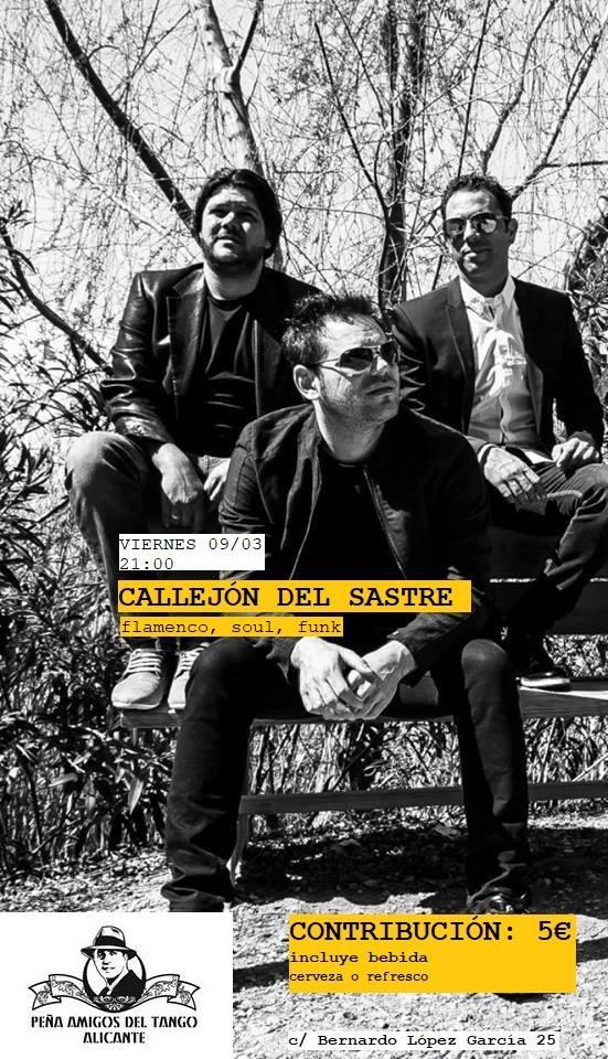Callejón del Sastre presenta su disco de flamenco pop en la Peña del Tango en MÚSICA