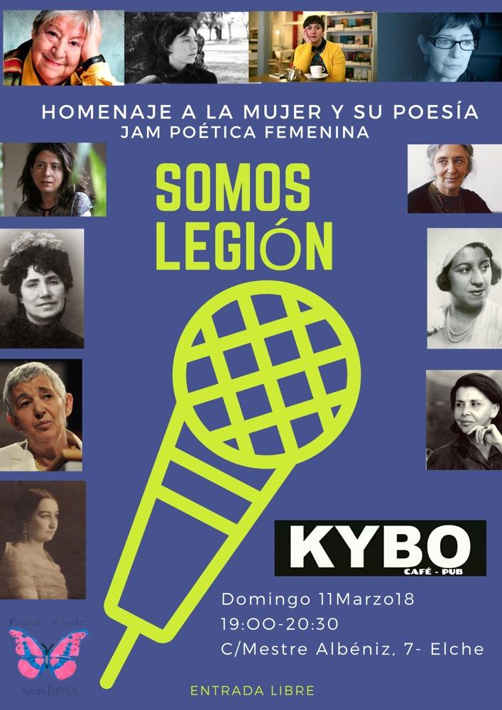 'Somos Legión', jam poética femenina para celebrar el Día de la Mujer en LETRAS