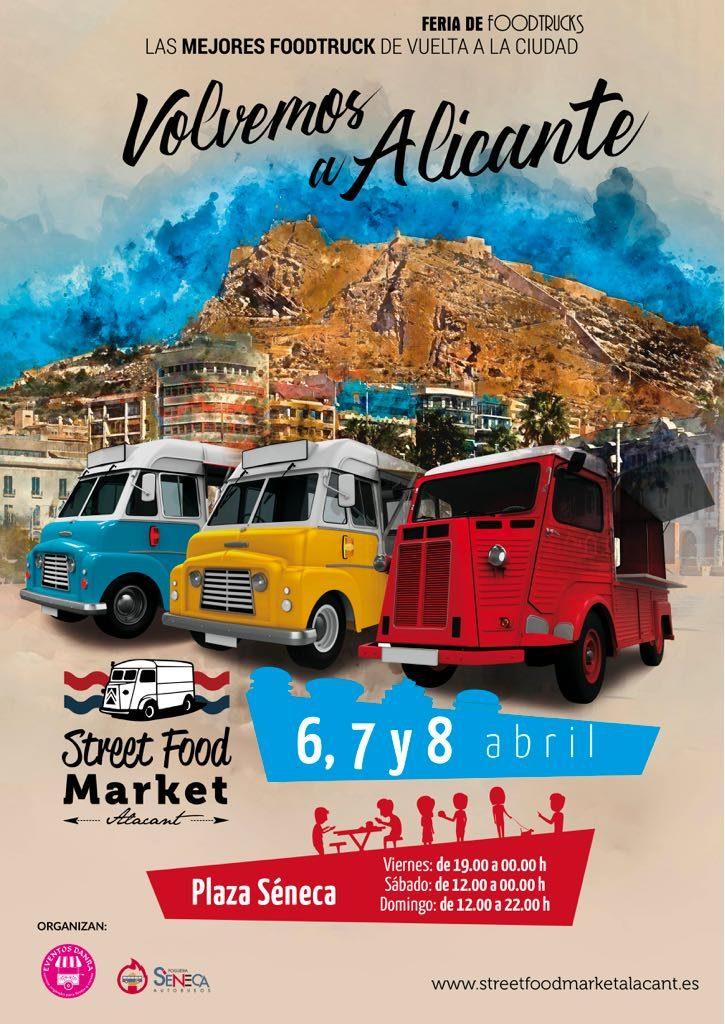 La cocina de calidad en furgonetas vintage vuelve a la Plaza de Séneca de Alicante en GASTRONOMÍA