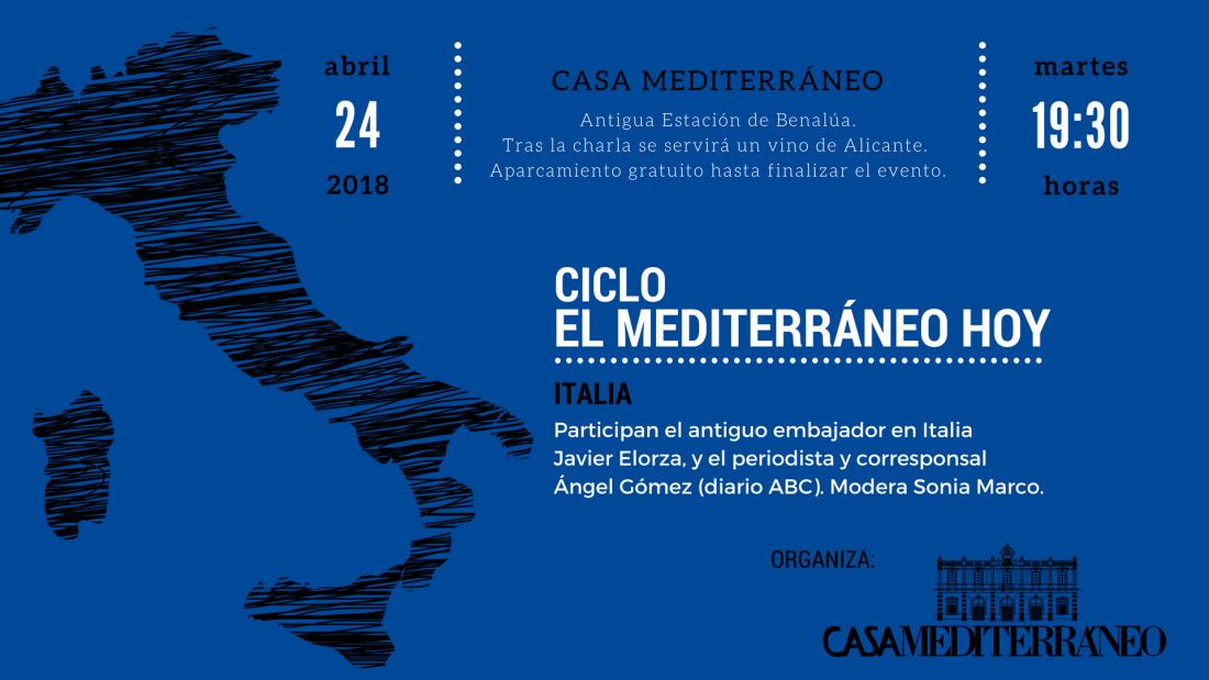 El corresponsal Ángel Gómez analizará la situación de Italia en Casa Mediterráneo en CONFERENCIAS