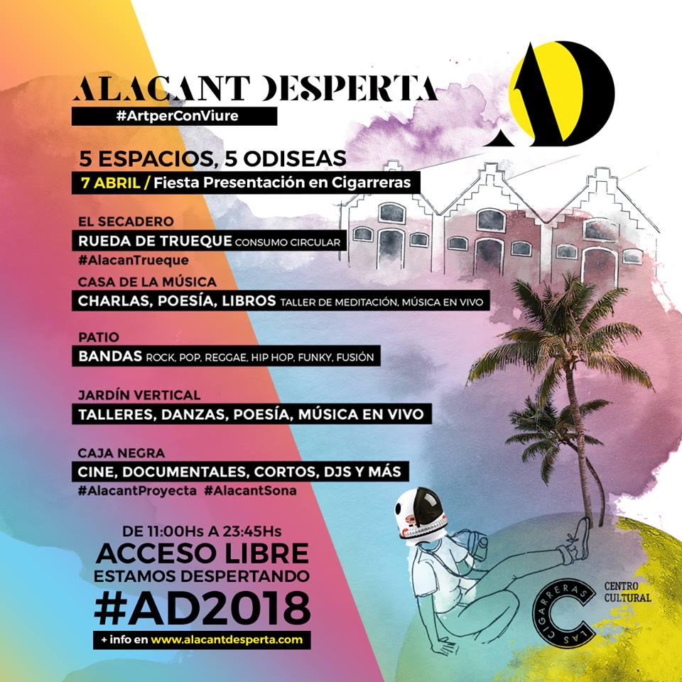 Las Cigarreras acoge la fiesta presentación del festival de arte urbano Alacant Desperta en ARTE