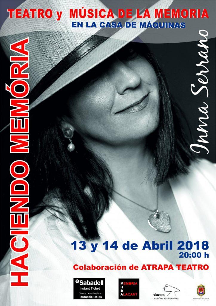 Inma Serrano y Atrapa Teatro recrean la memoria histórica con música y poesía en ESCENA LETRAS MÚSICA