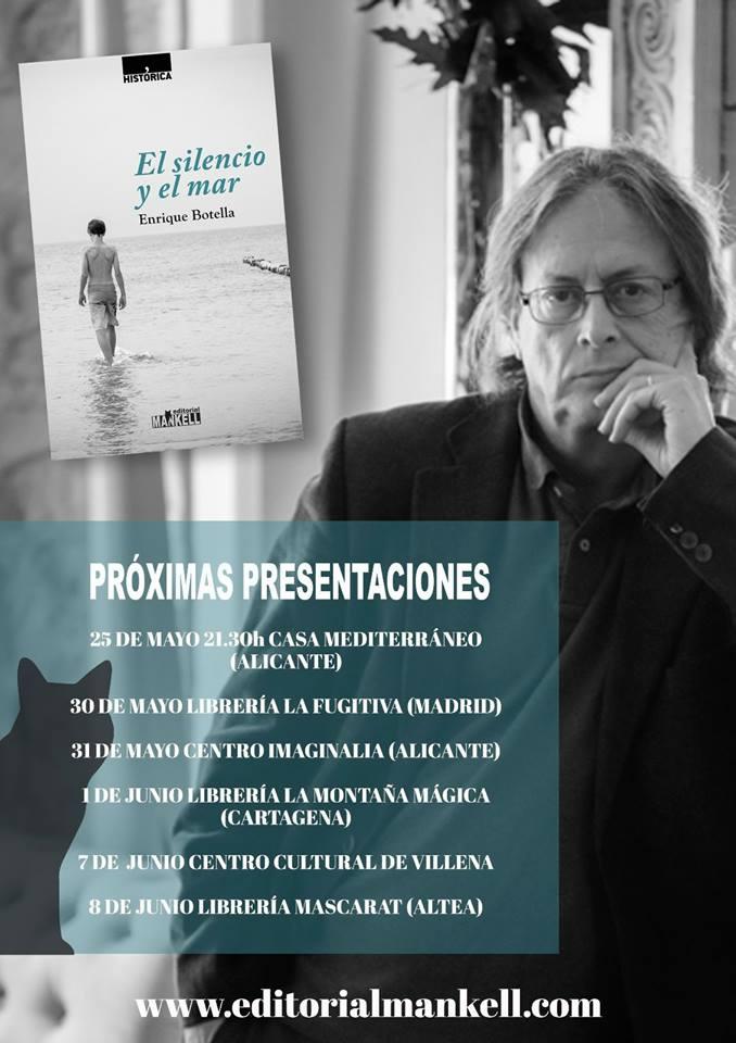 La editorial alicantina Mankell se estrena con la presentación del libro 'El silencio y el mar' en LETRAS