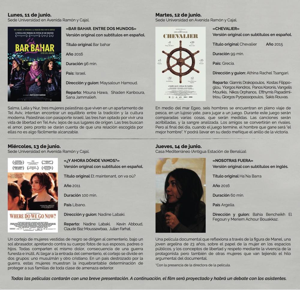 Directoras del Mare Nostrum protagonizan un ciclo de cine organizado por Casa Mediterráneo en DESTACADOS ESCENA