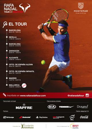 Cientos de jóvenes tenistas disputan en Alicante el Rafa Nadal Tour by Mapfre en DEPORTE