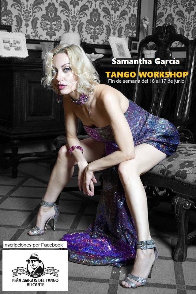 Samantha García imparte un taller de tango en Alicante en ESCENA