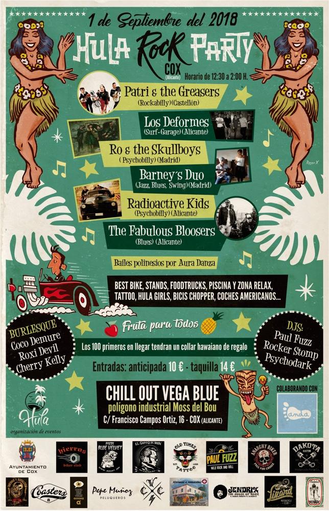 La 'Hula Rock Party' pone el broche al verano en Cox en MÚSICA