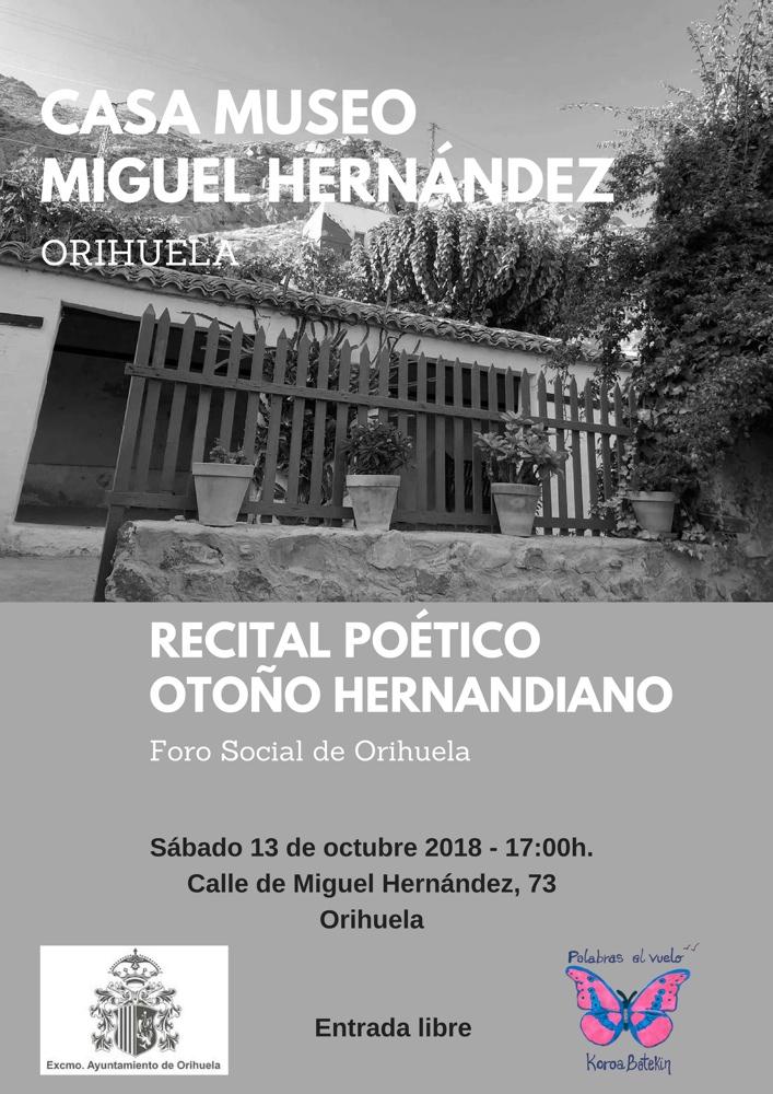 Orihuela repite velada poético musical en homenaje a Miguel Hernández en LETRAS