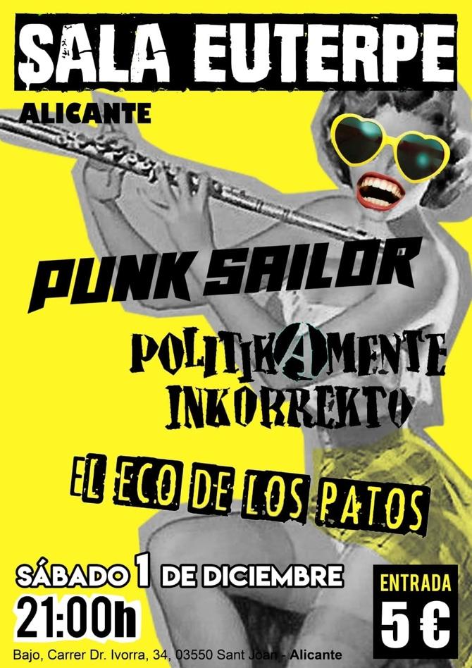 El punk rock irreverente de los valencianos Punk Sailor llega a la Sala Euterpe en MÚSICA