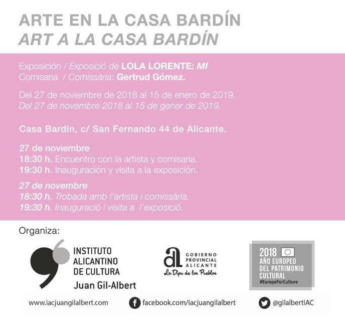 'MI', la dibujante Lola Lorente expone sus creaciones en la Casa Bardín en ILUSTRACIÓN