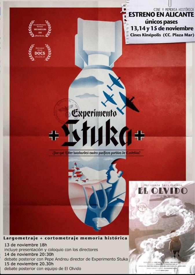 'El Olvido' y 'Experimento Stuka' recuerdan a las víctimas de la Guerra Civil en CINE