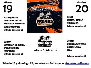 Performances y comedia de impro para salvar al Freaks Arts Bar de Alicante en ESCENA