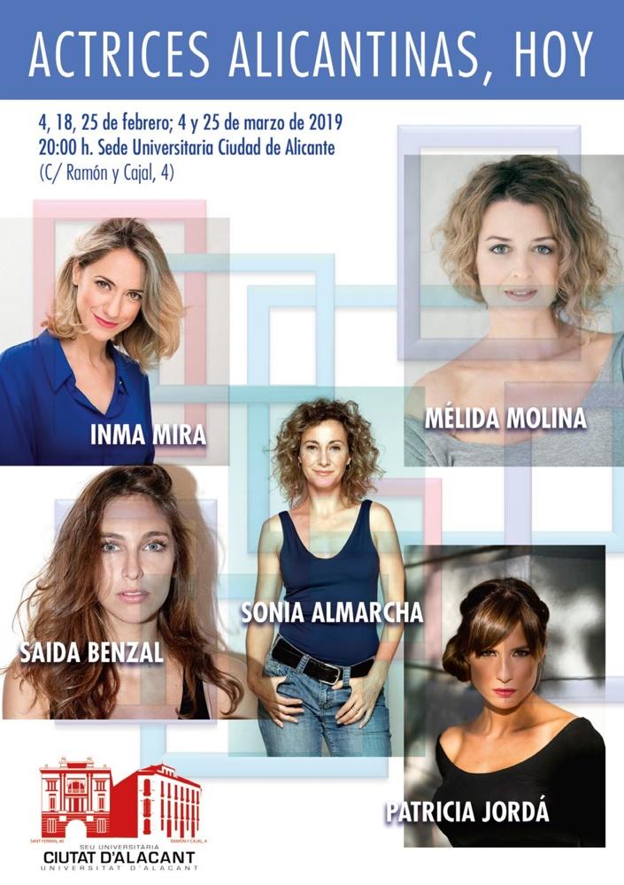 La Sede Ciudad de Alicante dedica un ciclo a las actrices alicantinas actuales en CINE CONFERENCIAS
