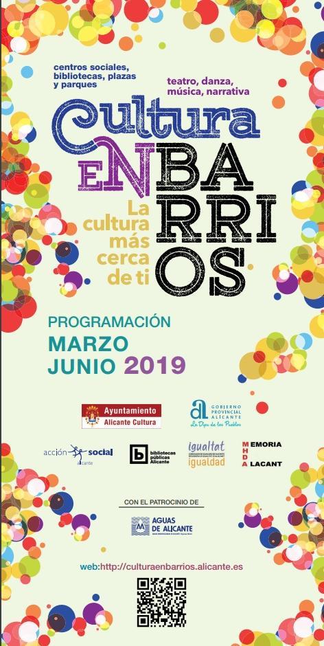 Cultura programa más de un centenar de actividades en los barrios para la primavera en ARTE