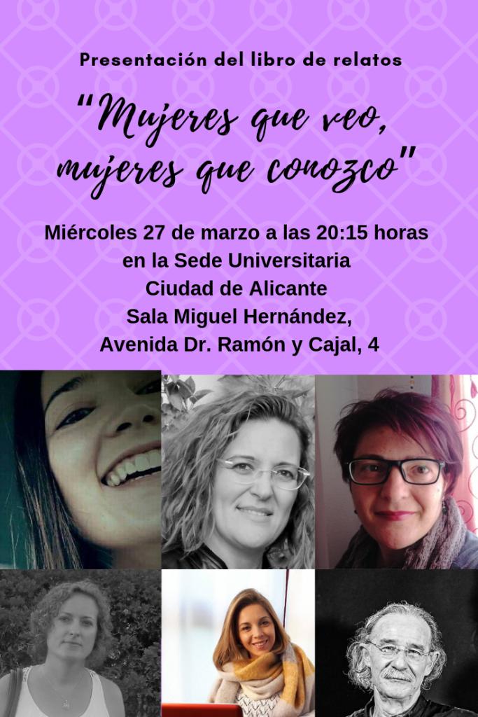 Presentación del libro de relatos 'Mujeres que veo, mujeres que conozco' en LETRAS