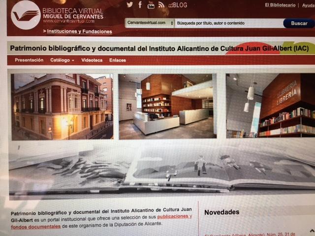 La Biblioteca Virtual Miguel de Cervantes abre al mundo los fondos del Gil-Albert en INTERNET LETRAS