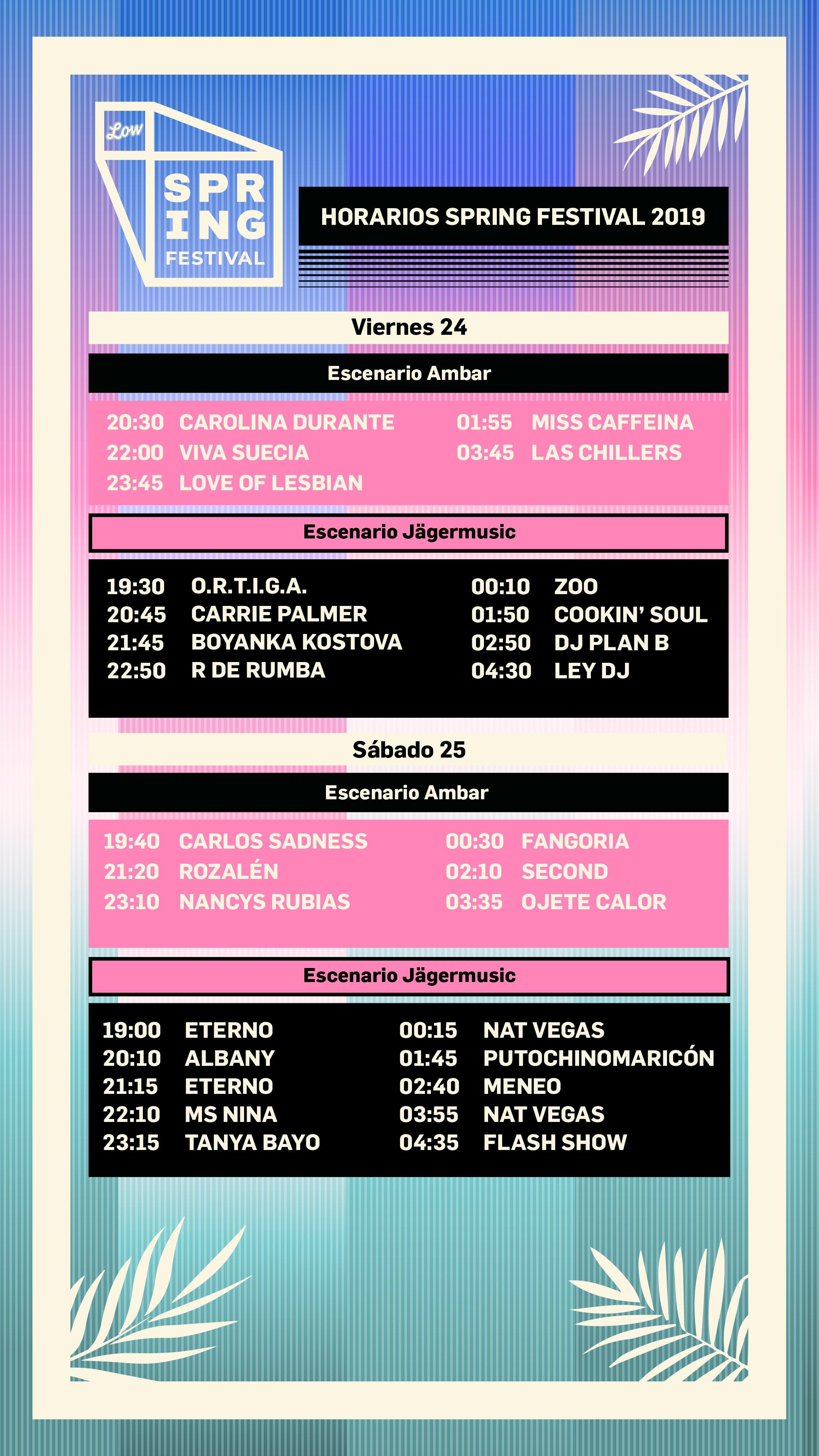 Spring Festival presenta los horarios de su edición 2019 en MÚSICA