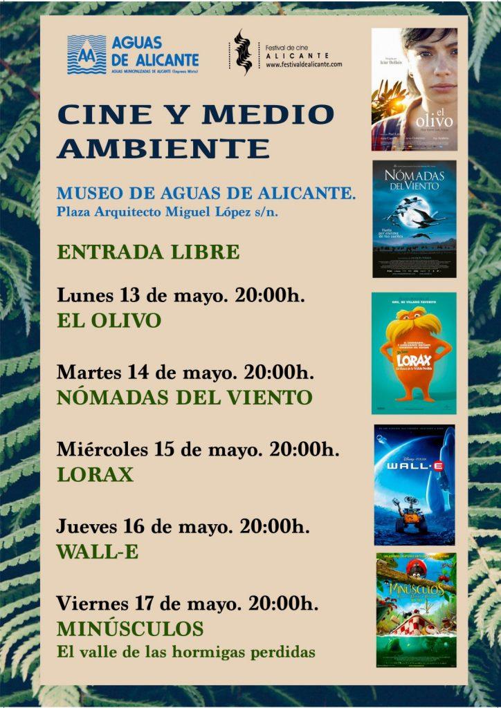 El Museo de Aguas proyectará películas medioambientales del Festival de Cine de Alicante en CINE