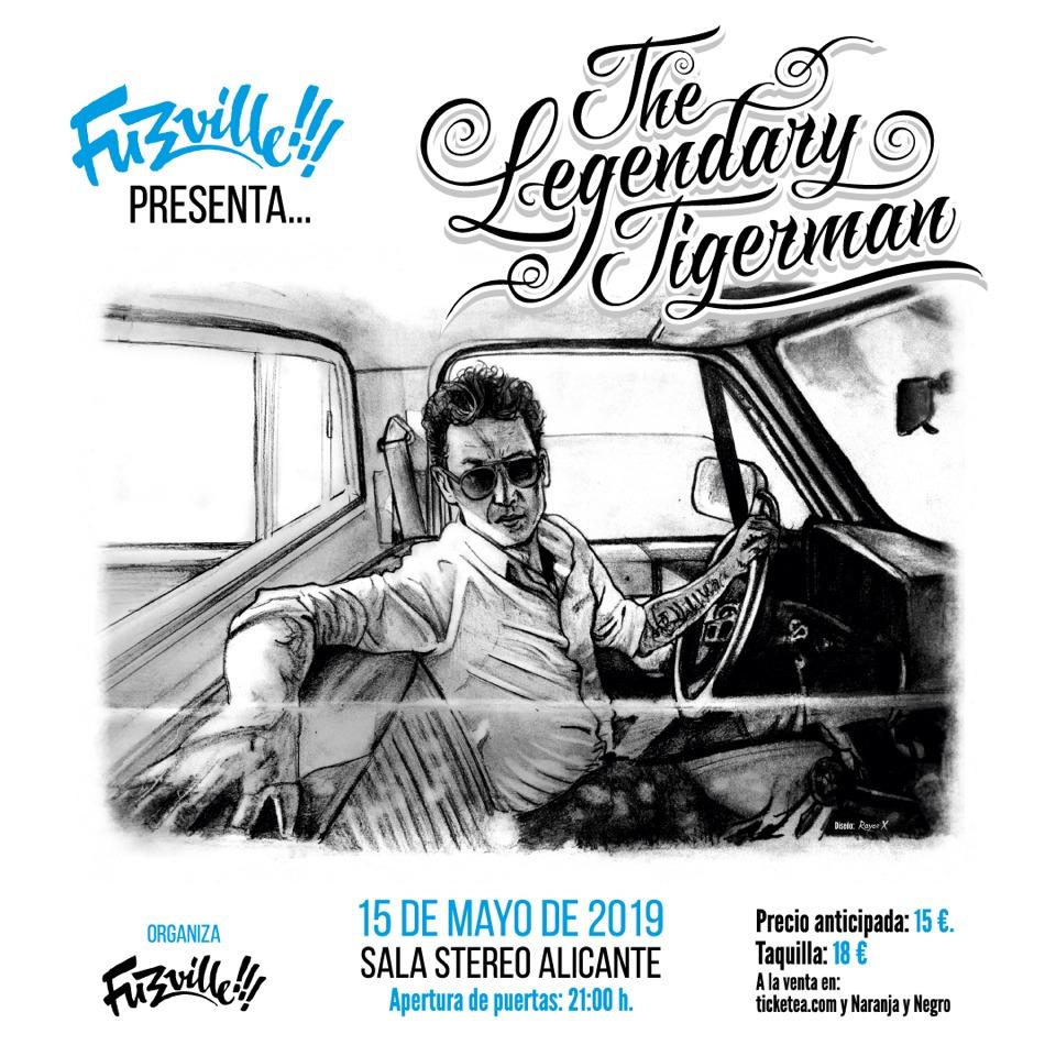 El portugués The Legendary Tigerman muestra su sexto trabajo en Stereo Alicante en MÚSICA