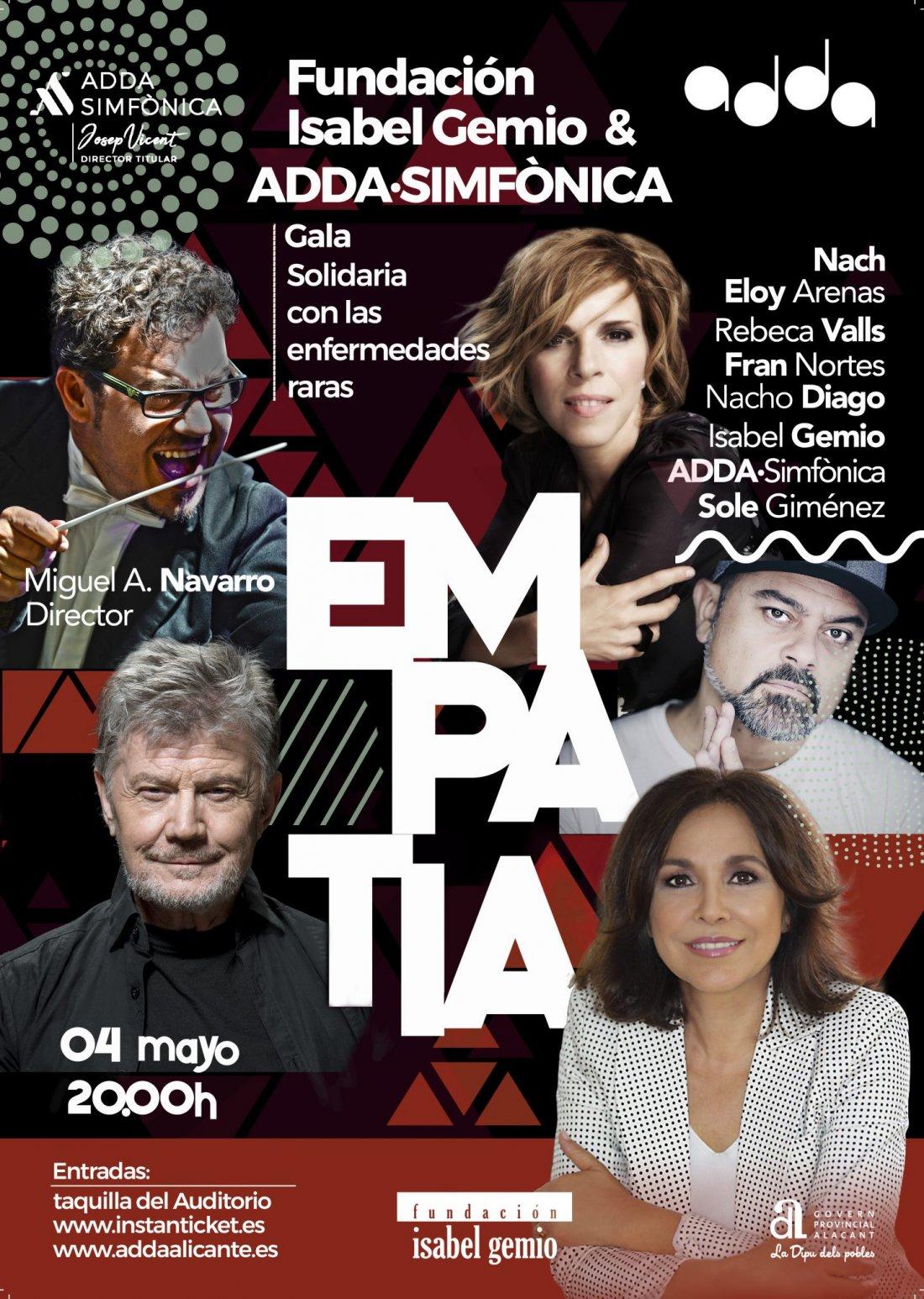 Humor, música y poesía confluyen en la Gala Empatía a beneficio de la Fundación Isabel Gemio en MÚSICA
