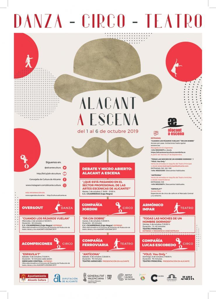 'Alacant a Escena 2019' propone teatro, danza y circo del 1 al 6 de octubre en ESCENA