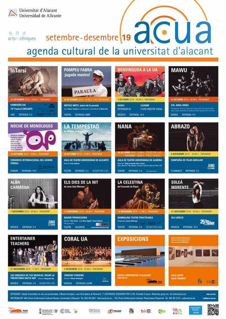 Teatro, música y danza en la nueva programación cultural de la UA en ESCENA